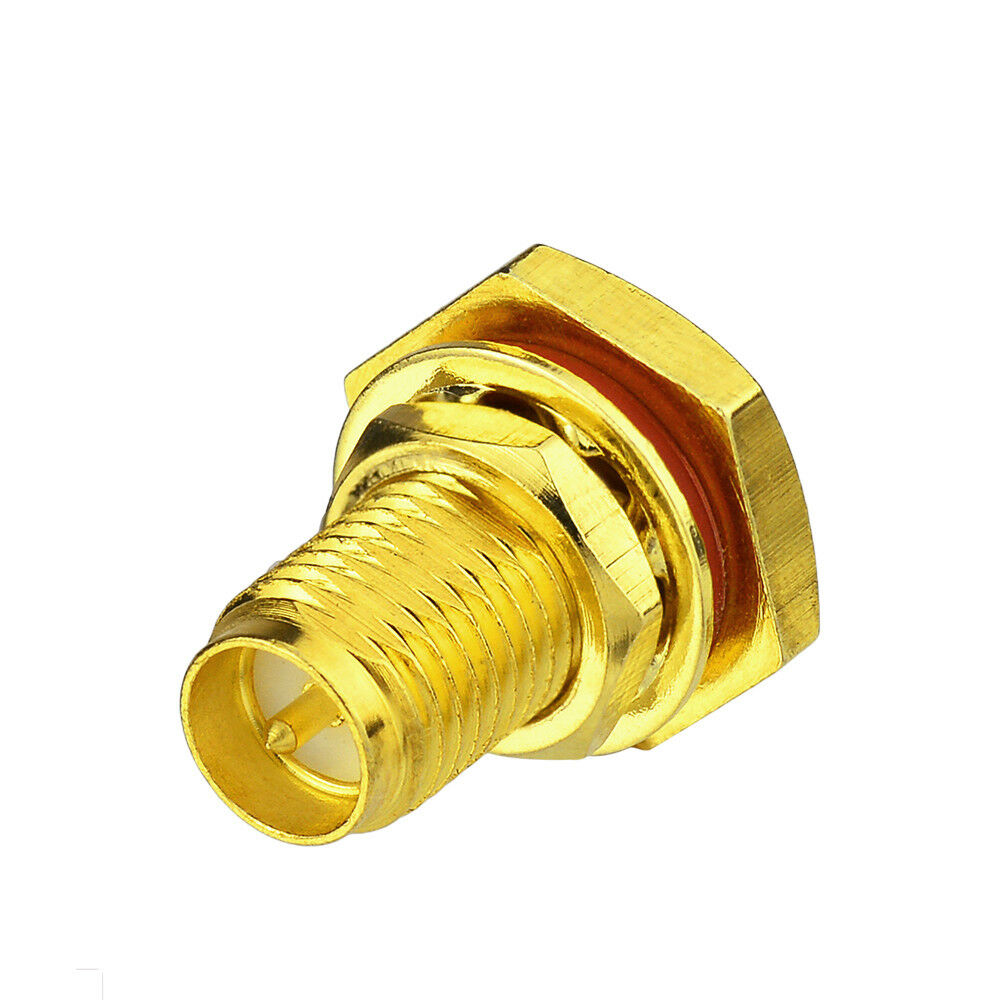 Rp sma solder jack male pin bulkhead connector for