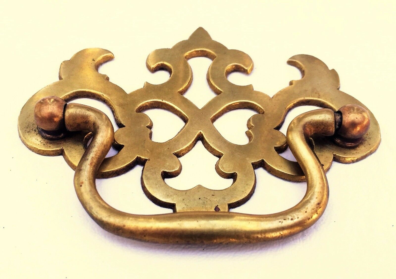 "Antique Hardware Brass Chippendale Drawer Pull Handle...  2 1/2"" & 3"" centers"