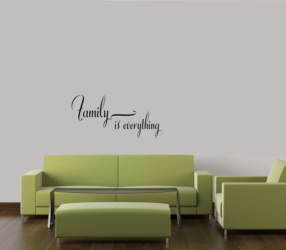 family is everything home decor wall quote decal vinyl words