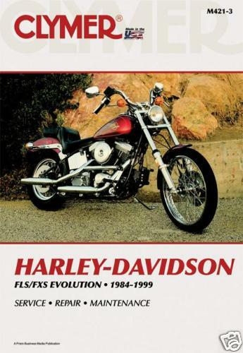 Harley Davidson FLST FXST 1340 Softail Fatboy Evolution Clymer Manual M421-3 NEW