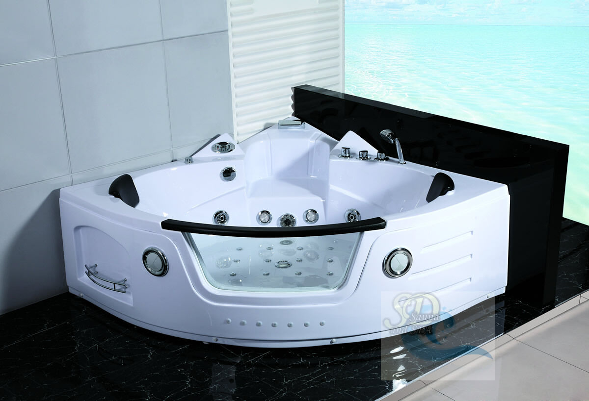 New 2 Person Jacuzzi Whirlpool Massage Hydrotherapy Bathtub Tub Indoor - White
