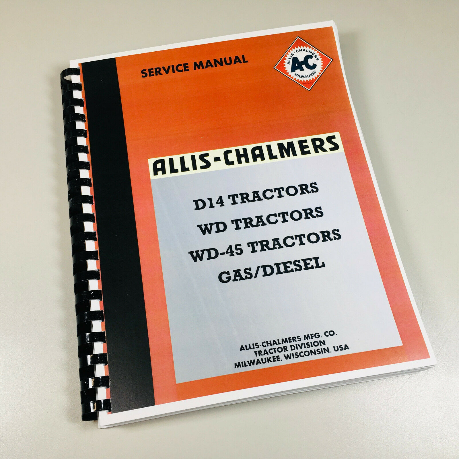 Allis Chalmers D14 D 14 Tractor Service Technical Repair Shop Manual Magneto Wiring Diagram New Print 1 Of 6free Shipping