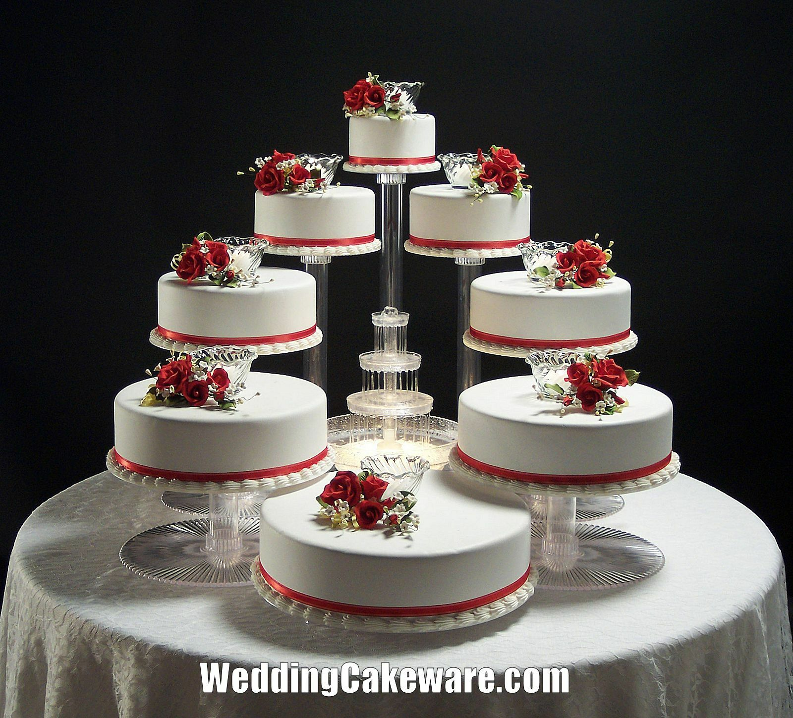 Tier Cascade Wedding Cake Stand
