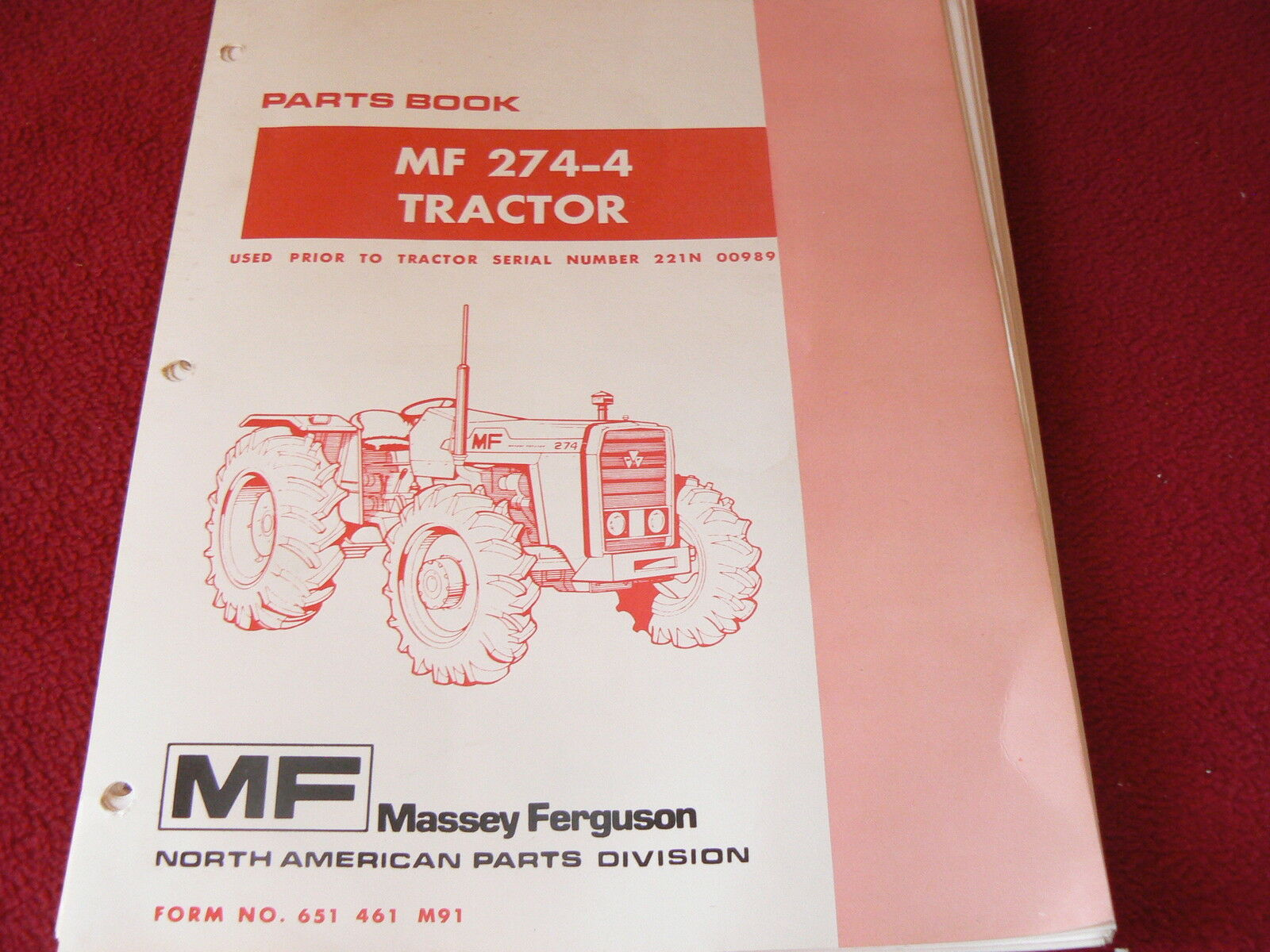 Massey Ferguson 274-4 Tractor Original Dealer's Parts Book 1 of 1Only 2  available ...