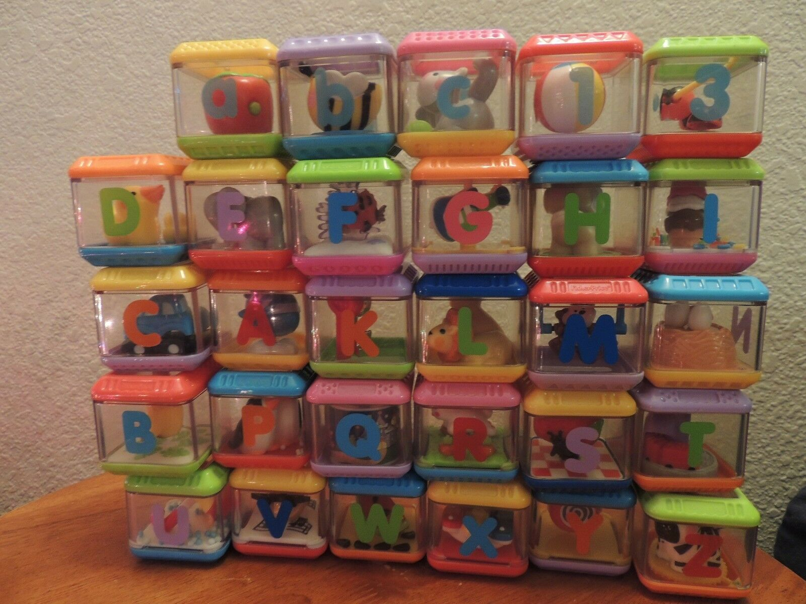 Fisher Price Peek A Boo Block Blocks U Choose Letter Alphabet Shapes Baby Gift 1 Of See More