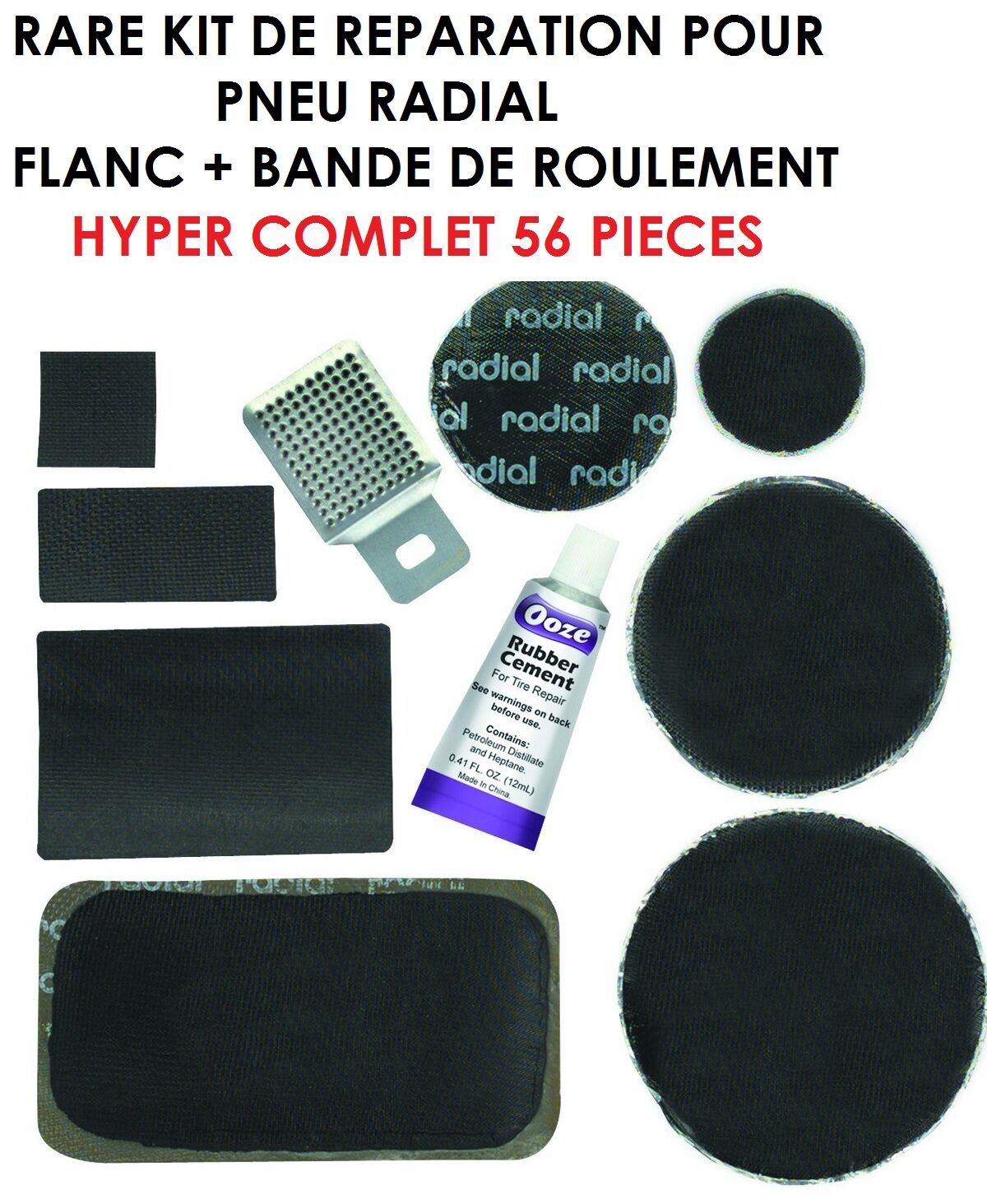 rare kit reparation pneus radial flanc bande de roulement 56 pieces eur 65 01 picclick fr. Black Bedroom Furniture Sets. Home Design Ideas