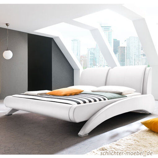 avelino polsterbett kunstlederbett designerbett futonbett. Black Bedroom Furniture Sets. Home Design Ideas
