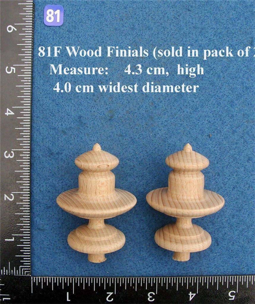 Pair of Clock / furniture Finials Style 81f