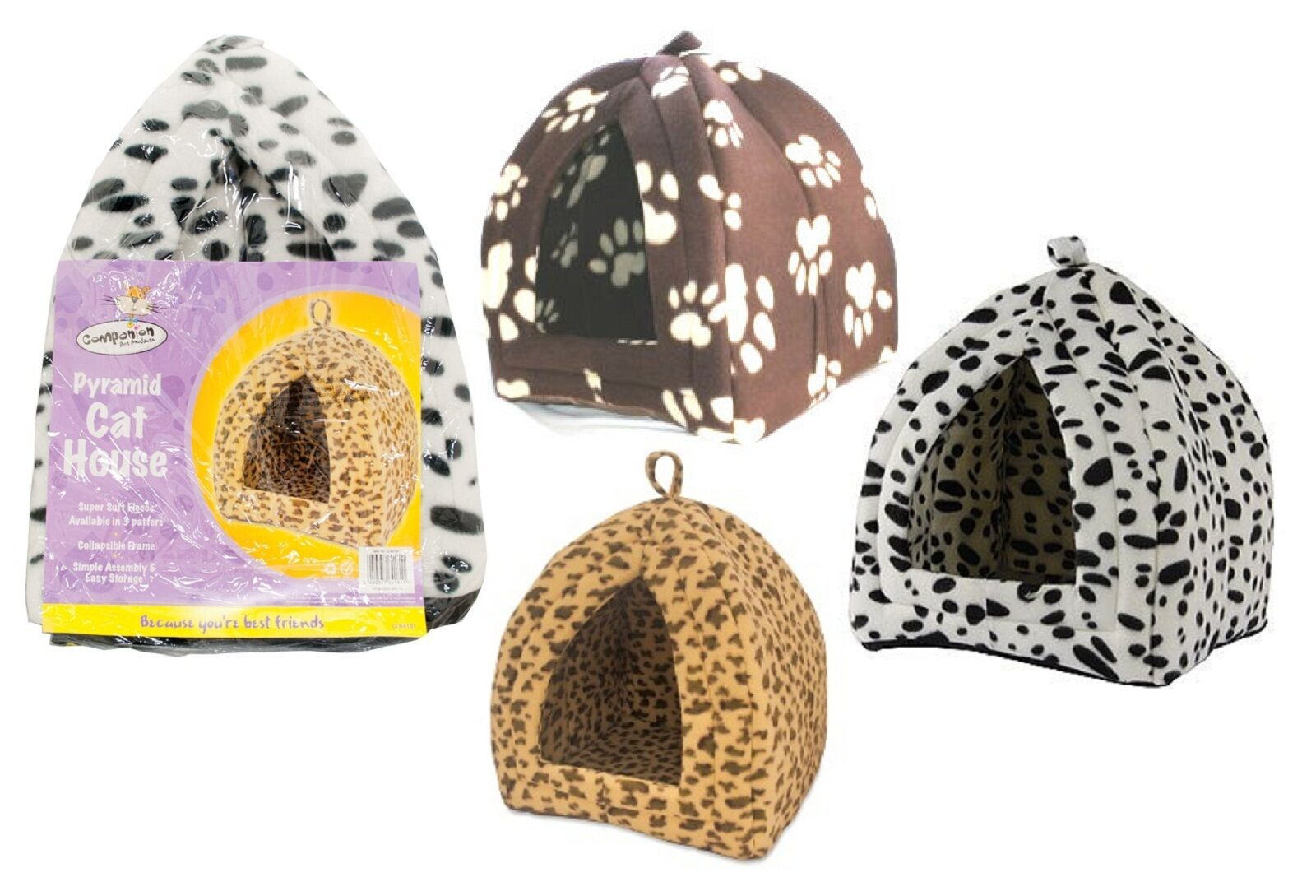 Pyramid Cat House Igloo Pyramid Soft Cat Bed For Rabbits Guinea Pigs Small Pets