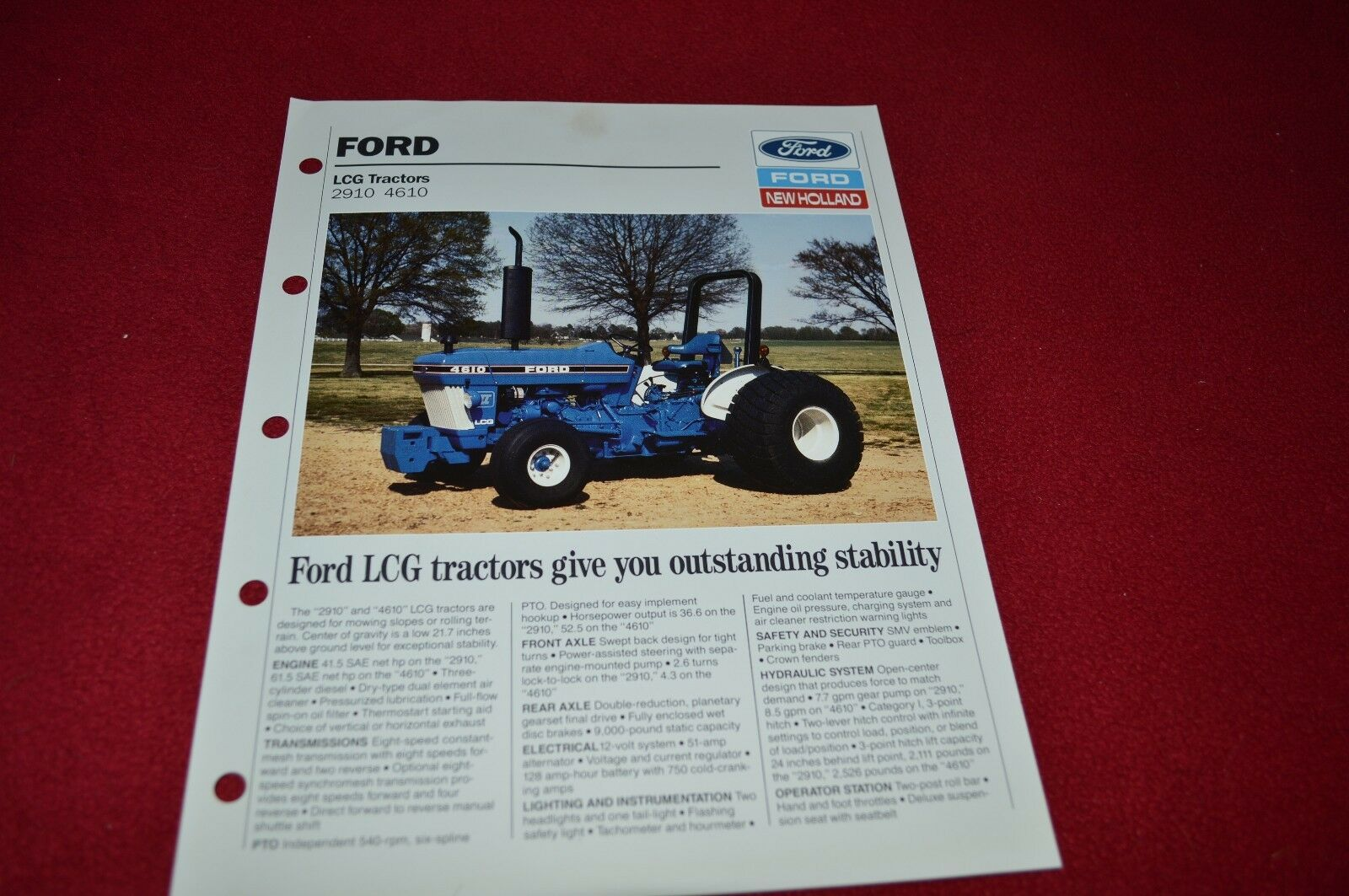 2910 Ford Tractor Parts Wiring Diagram Dealers Brochure Lcoh Of Only Available 1600x1063