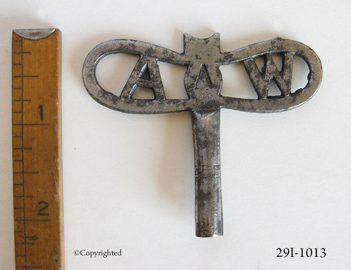 Rare A & W Dragon Fly Shaped Antique Old Skeleton Key Cuckoo Clock Vintage SZ 5