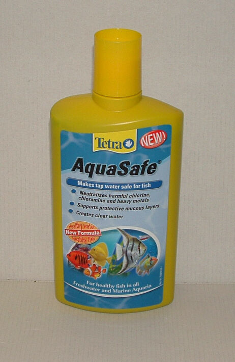 TETRA AQUASAFE 500ml Tap Water Conditioner. Aquarium