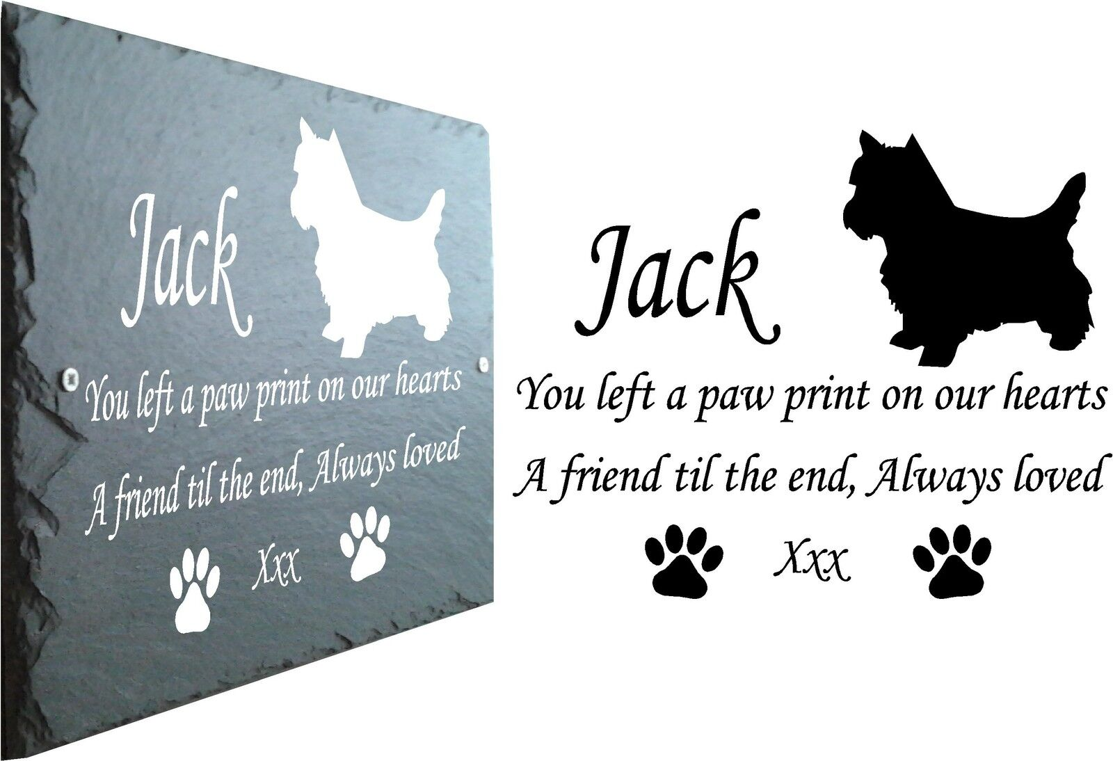 Pet Memorial Slate Plaque, Personalised for you. West Highland Terrier - Westie