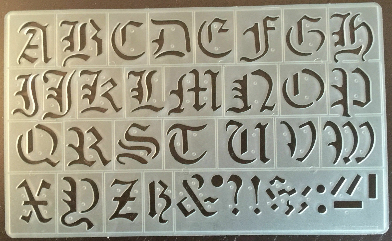 Cox 20 Mm Old English Lettering Letters Stencils Upper Lower Case