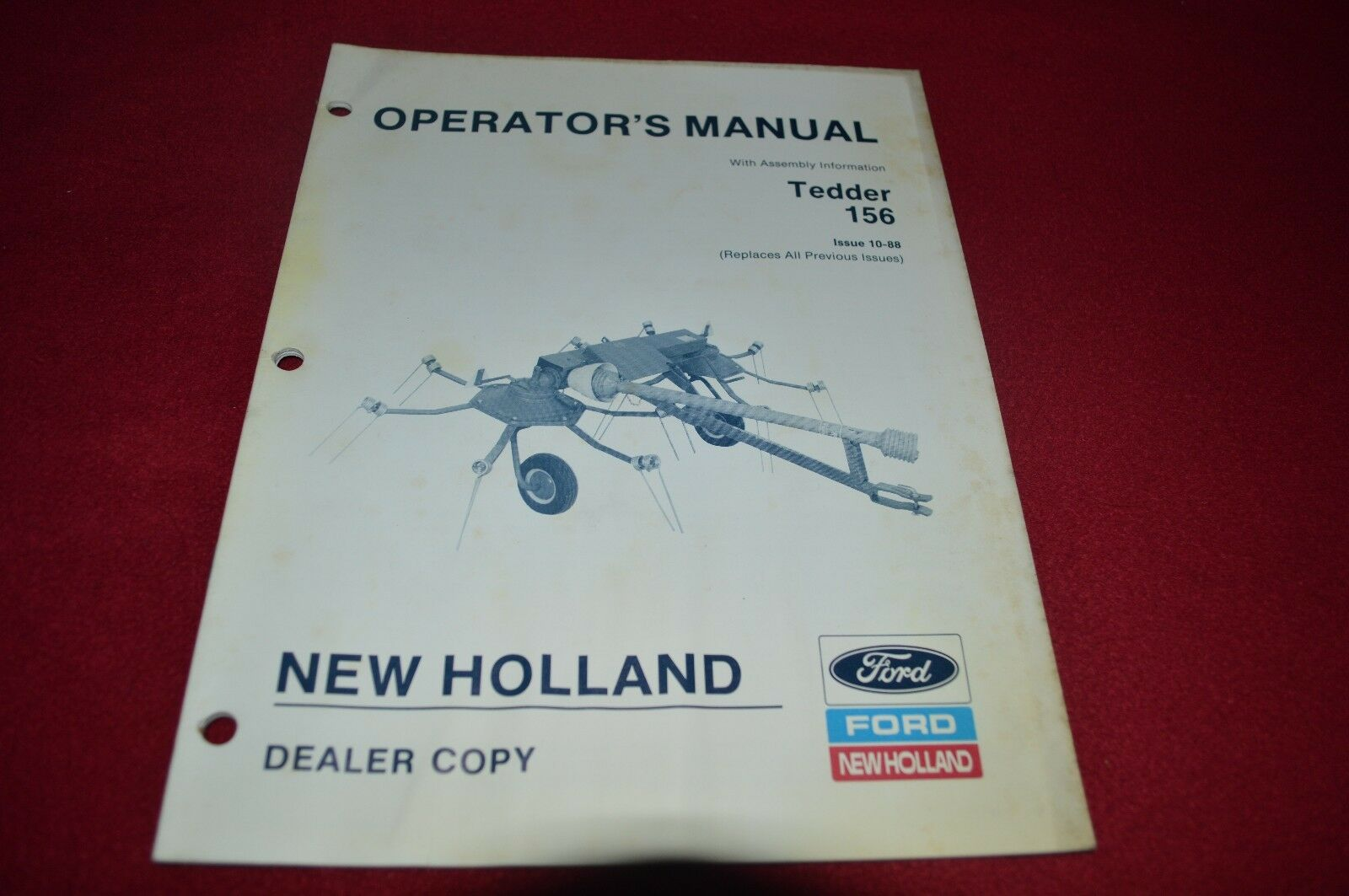 New Holland 156 Tedder Operator's Manual CHPA 1 of 1Only 1 available ...