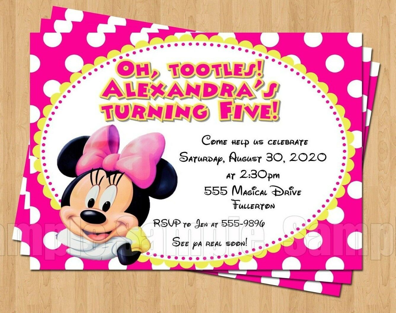 10 minnie mouse 1st 2nd 3rd 4th 5th birthday party invitations polka 10 minnie mouse 1st 2nd 3rd 4th 5th birthday party invitations polka dot cute filmwisefo