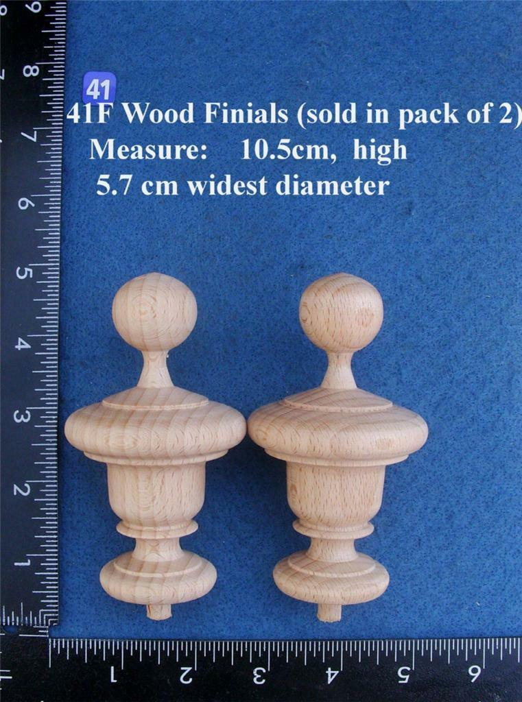 *Pair of Clock / furniture Finials Style 41F