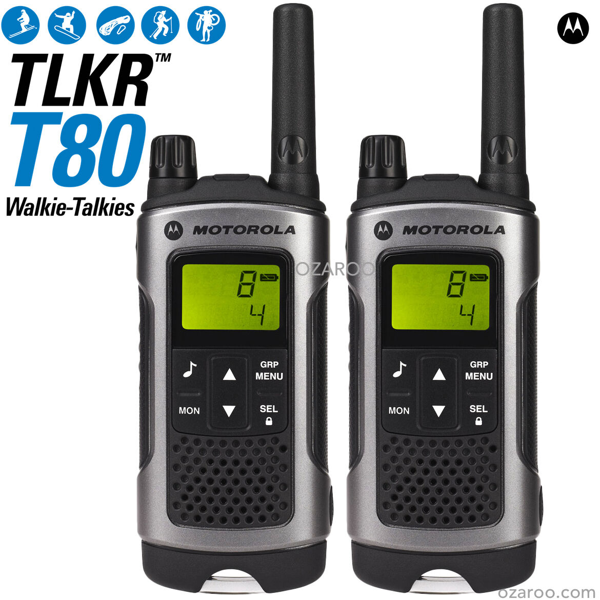 motorola talker tlkr t80 2 way walkie talkie pmr 446 radio 10km 2 pack silver eur 75 70. Black Bedroom Furniture Sets. Home Design Ideas