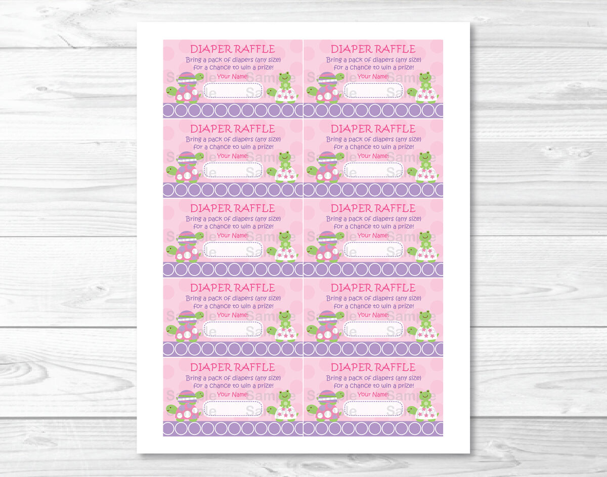 100 [ Free Printable Baby Shower Raffle Tickets Template ] Free Pink Turtle  Stacked Frog Printable