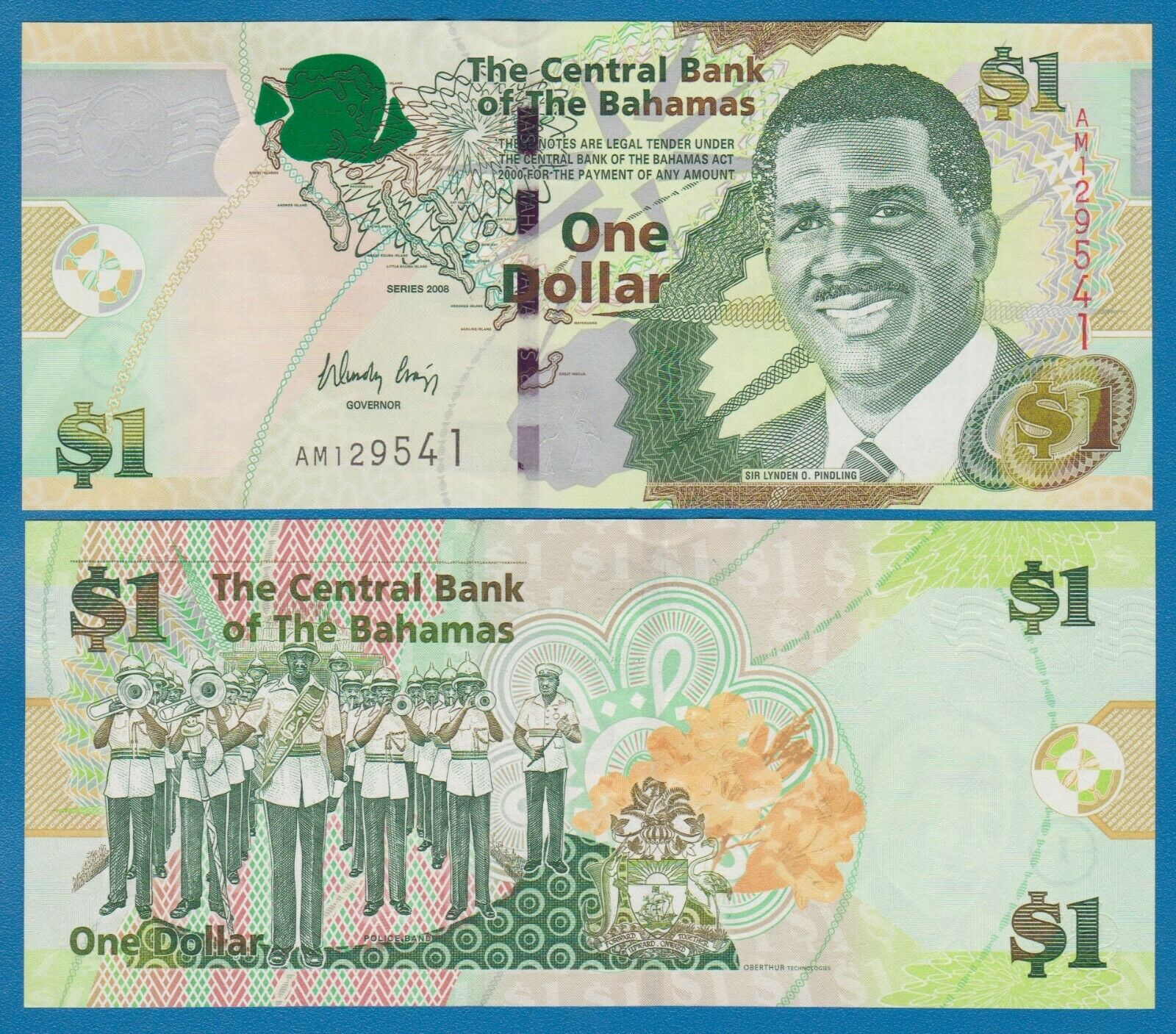 5 Dollars Barbados Unc 2013 P-74 Real Foto
