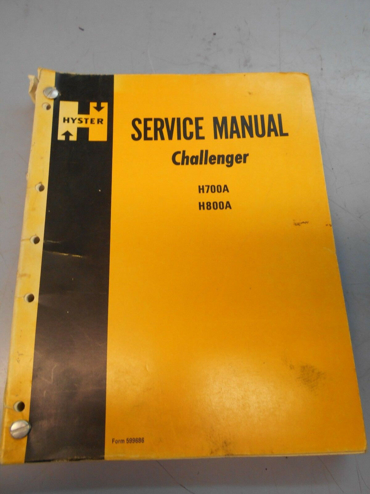 Hyster Forklift Service Manual - Challenger H700A, H800A 1 of 4Only 1  available ...
