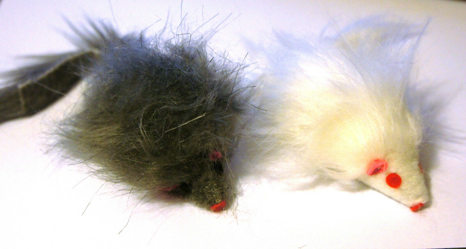 Catnip Fur Mouse Large Cat Toys Twin Pack