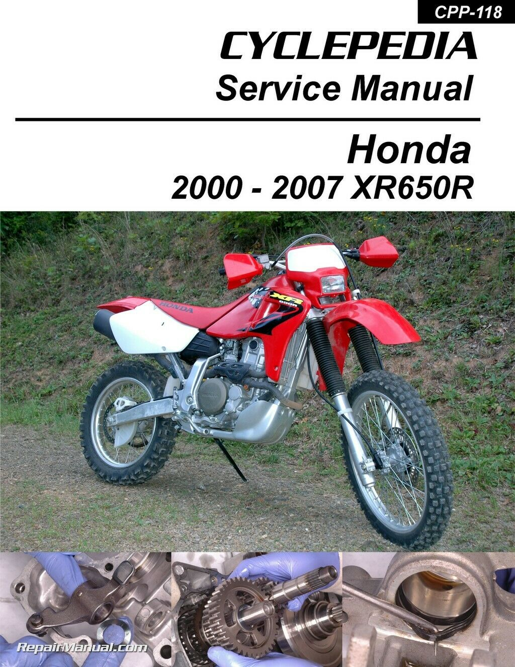 Honda XR650R Motorcycle Cyclepedia Printed Service Manual 1 of 1Only 4  available ...