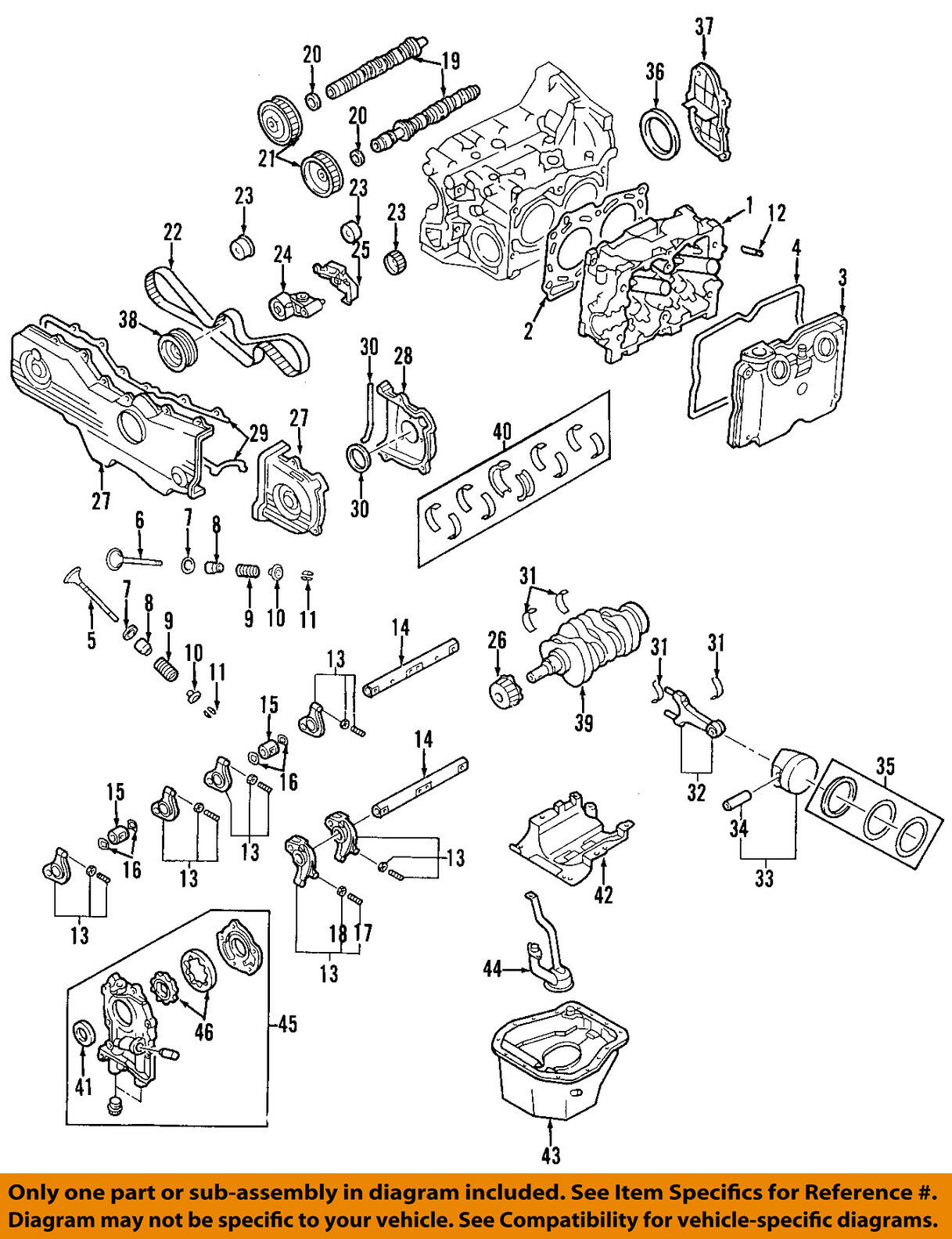 Subaru Oem 04 11 Impreza Engine Timing Camshaft Cam Gear 13017aa042 2012 Diagram 1 Of 1only Available