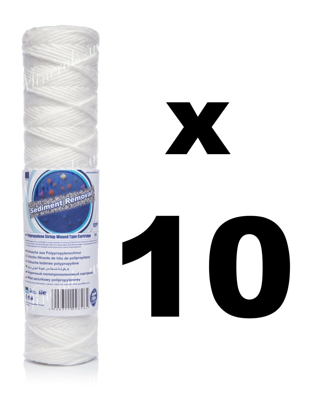 "10 x 1 micron sediment filter string-wound 10"",water filter,Reverse osmosis,RO."