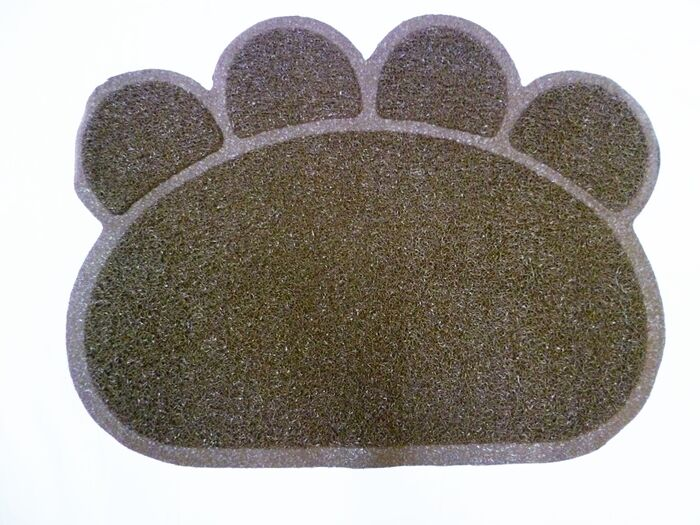 Brown Cats Dogs Paw Print Litter Tray Mat Cat Dog Pet Pets Toilet Tidy Clean UK