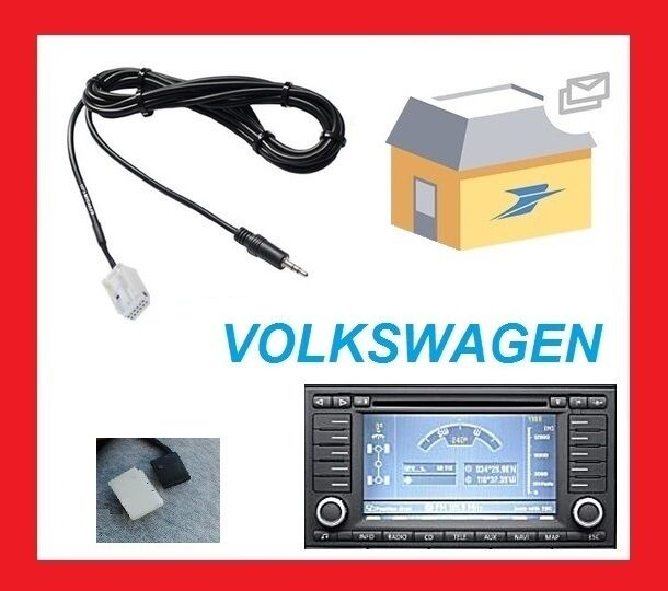 cable auxiliaire jack adaptateur mp3 pour autoradio rns2 vw touareg t5 multivan chf. Black Bedroom Furniture Sets. Home Design Ideas