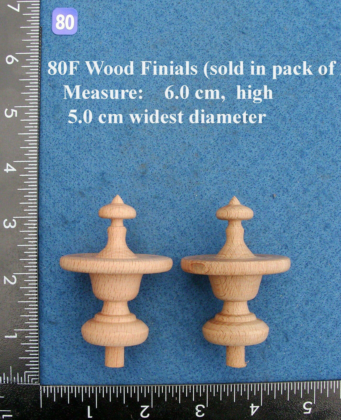*Pair of Clock / furniture Finials Style 80F