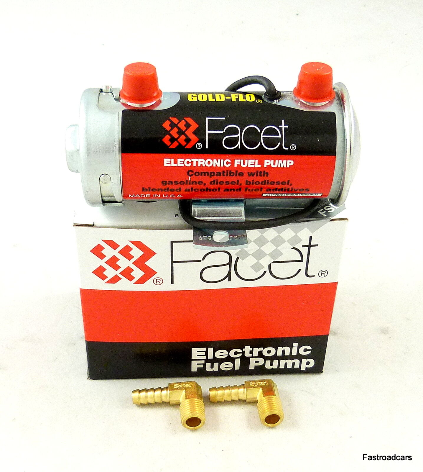 Fuel Pump Genuine Facet Red Top 480532e Comp Use 200 Bhp New With Filters 1 Sur 1seulement 3 Disponibles