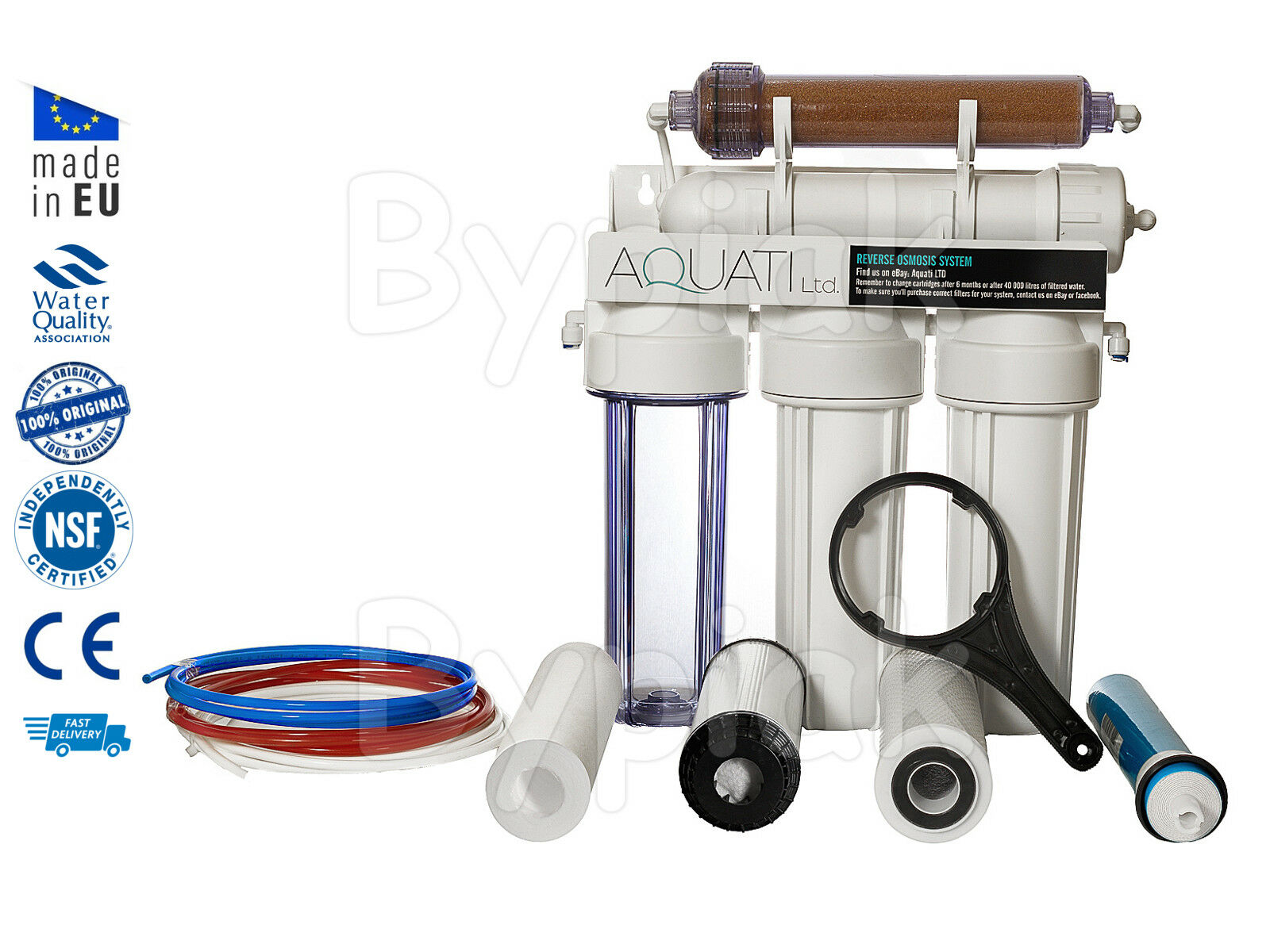 5 Stage RO with DI Resin (Refillable) Reverse Osmosis filter 100GPD Deionization