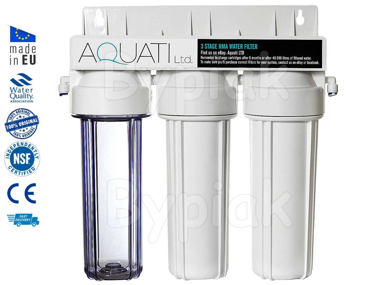 3 Stage HMA Heavy Metal Reduction Water Filter System KOI Ponds & Dechlorinator