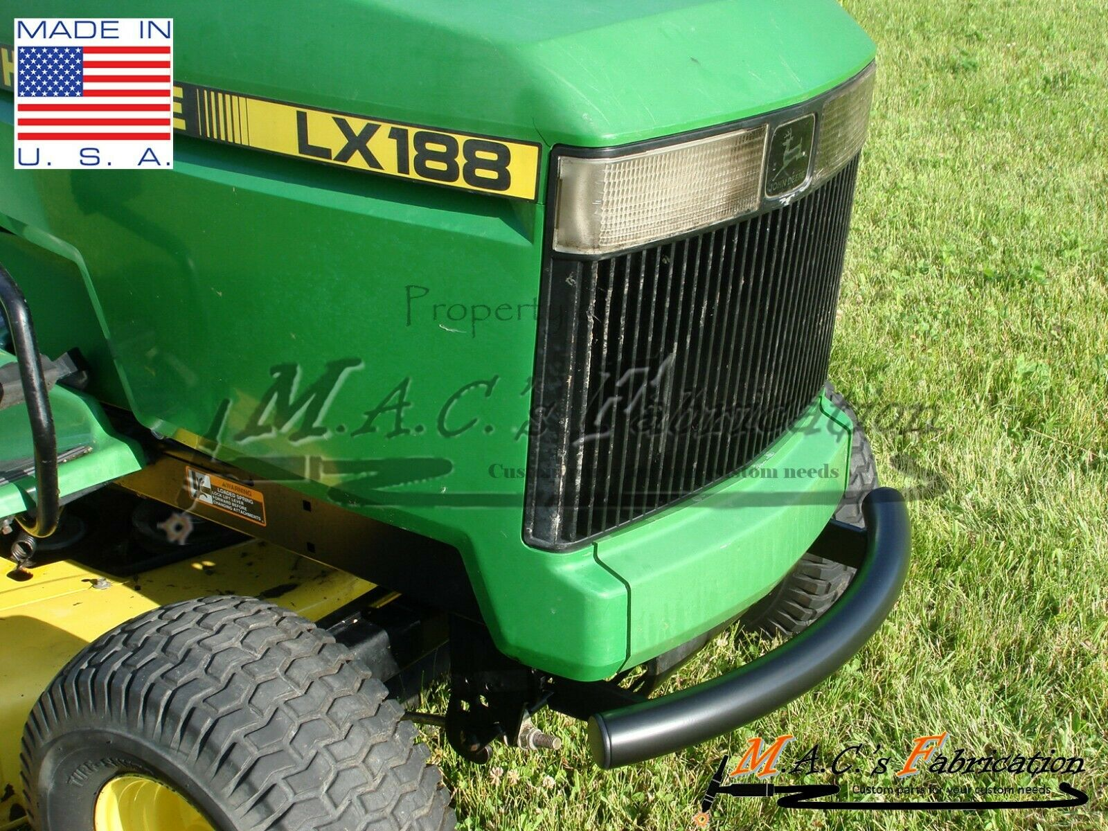 John Deere Front Bumper Lawn Mower Tractor LX172 LX173 LX176 LX178 LX186  LX188 1 of 11Only 4 available ...
