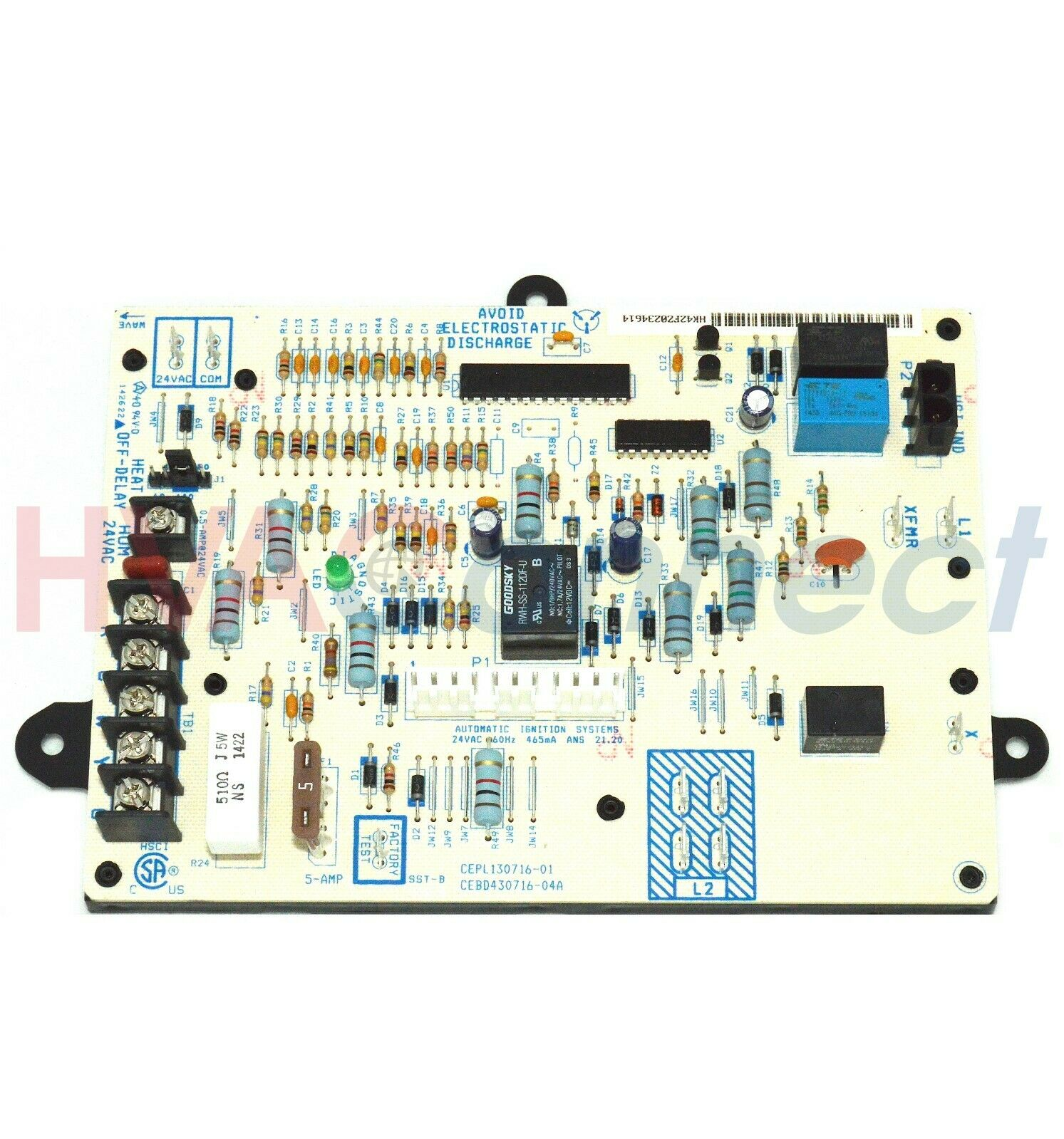 Icp Heil Tempstar Furnace Control Circuit Board Cepl130716 01 Wiring Diagram 1 Of 1only 5 Available