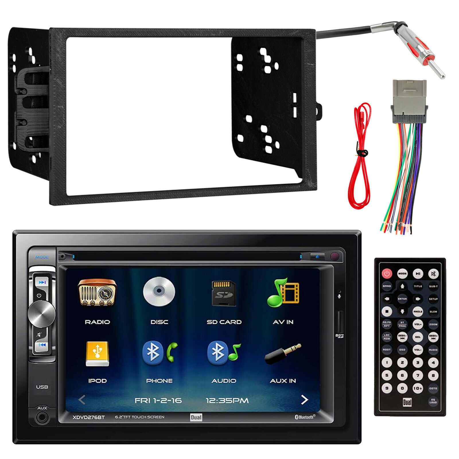 Jvc Double Din Bluetooth Usb Cd Player Car Radio Install Mount Kit Wiring Harness Adapter Additionally Nissan Audio Wire