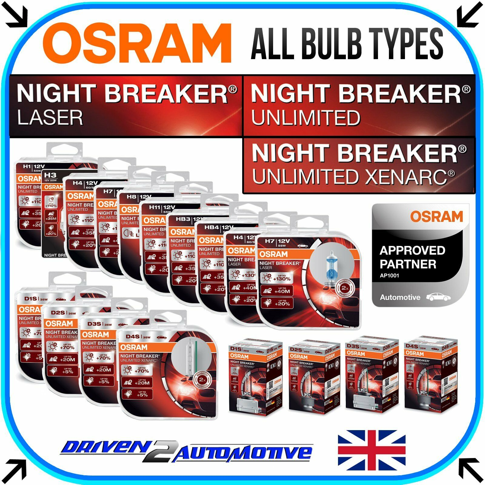 osram night breaker unlimited laser all bulbs available here wholesale price picclick uk. Black Bedroom Furniture Sets. Home Design Ideas