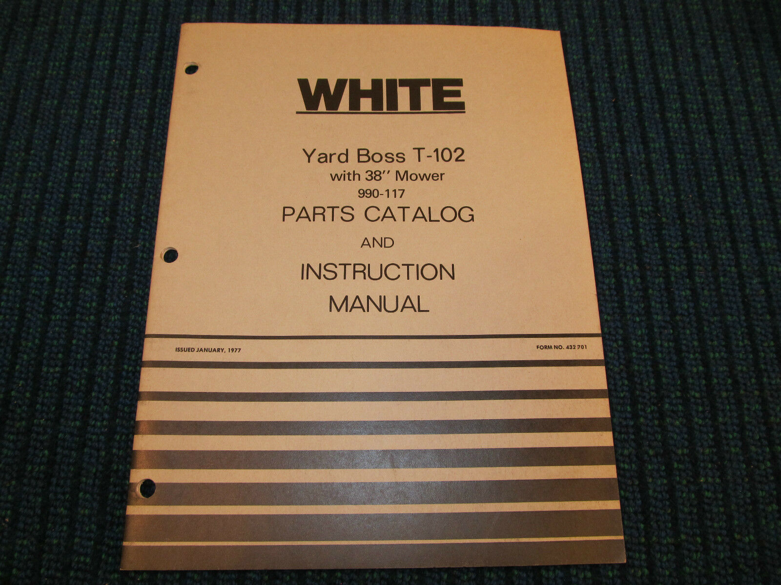 White Yard Boss T-102 Garden Tractor Parts Catalog & Instruction Manual  Mower 1 of 9Only 1 available White ...