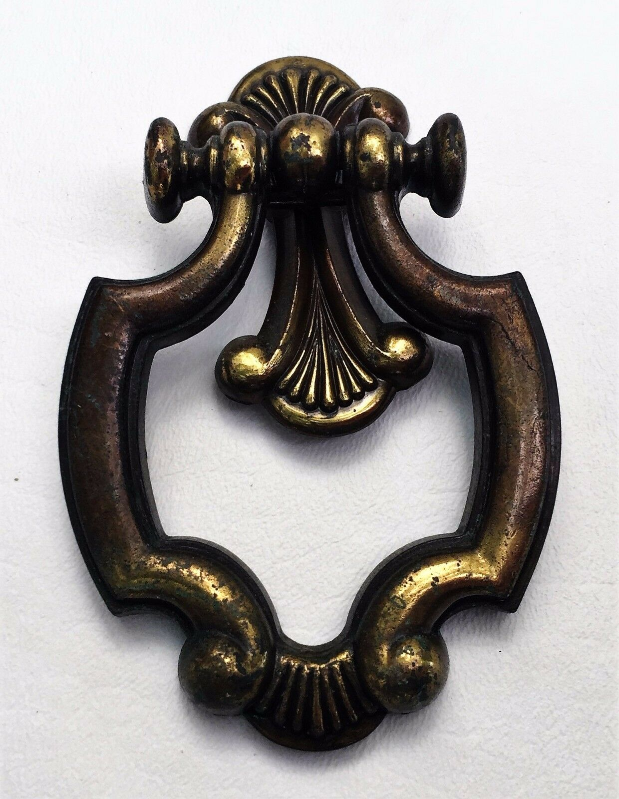 Brass French Provincial MCM Drawer Pull Hardware Vintage Cabinet Knob Ring Pull