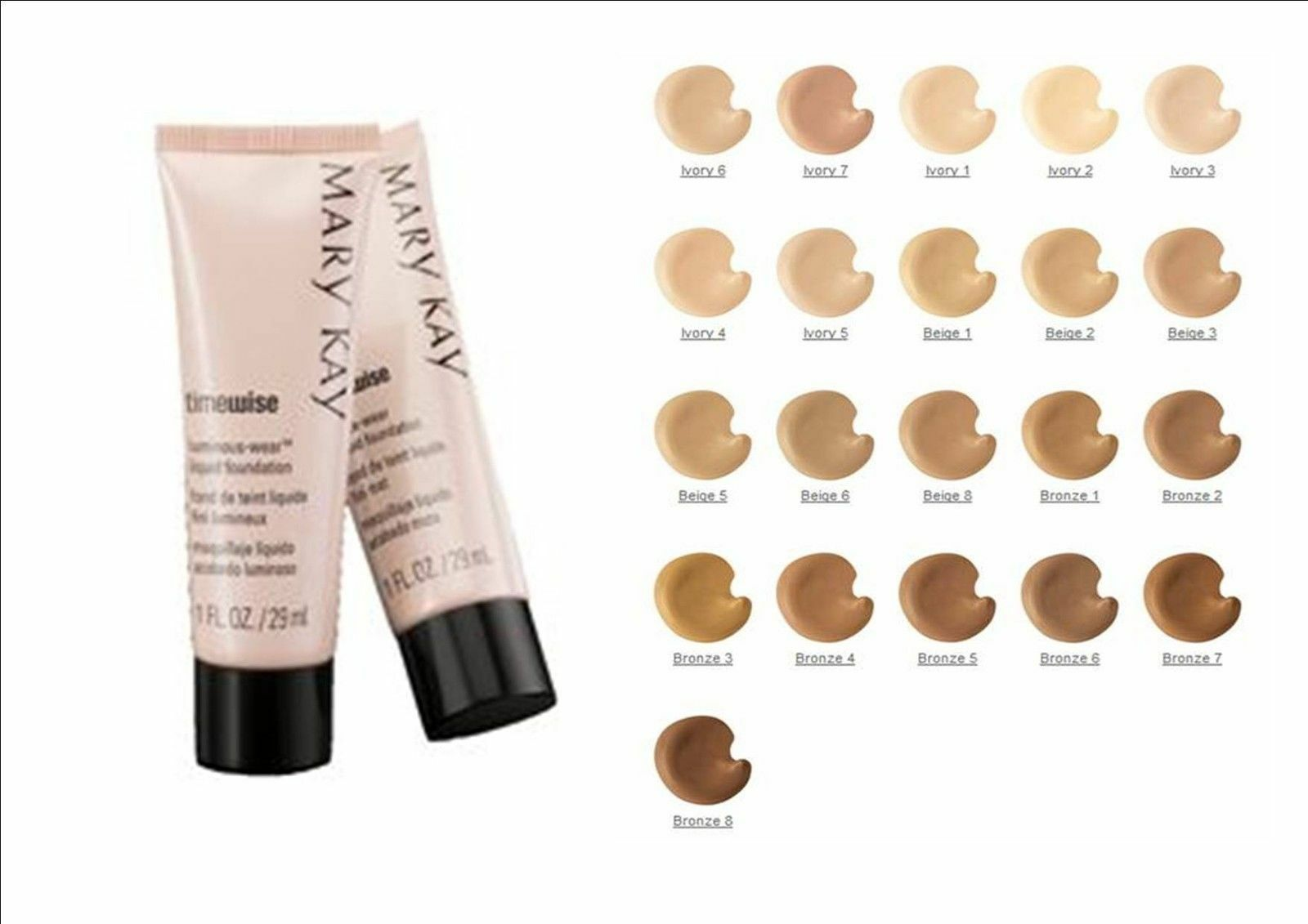 Mary Kay Timewise Matte Wear Liquid Foundations All Shades