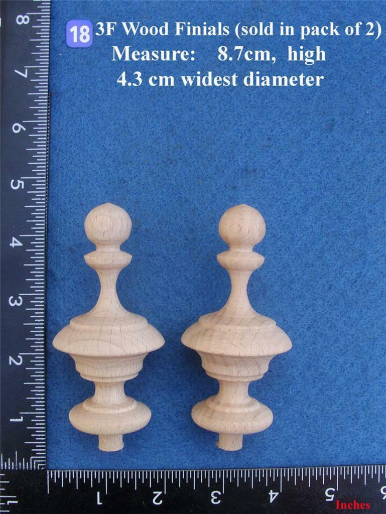 Pair of Clock / furniture Finials Style 18F