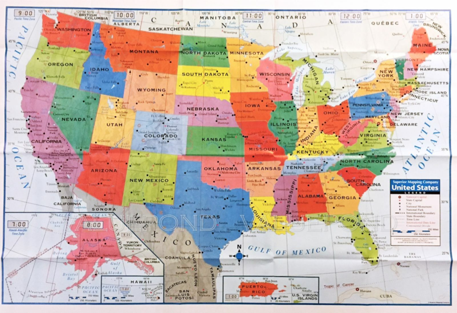 USA US MAP Poster Size Wall Decoration Large MAP Of United States - Us map poster 24x36