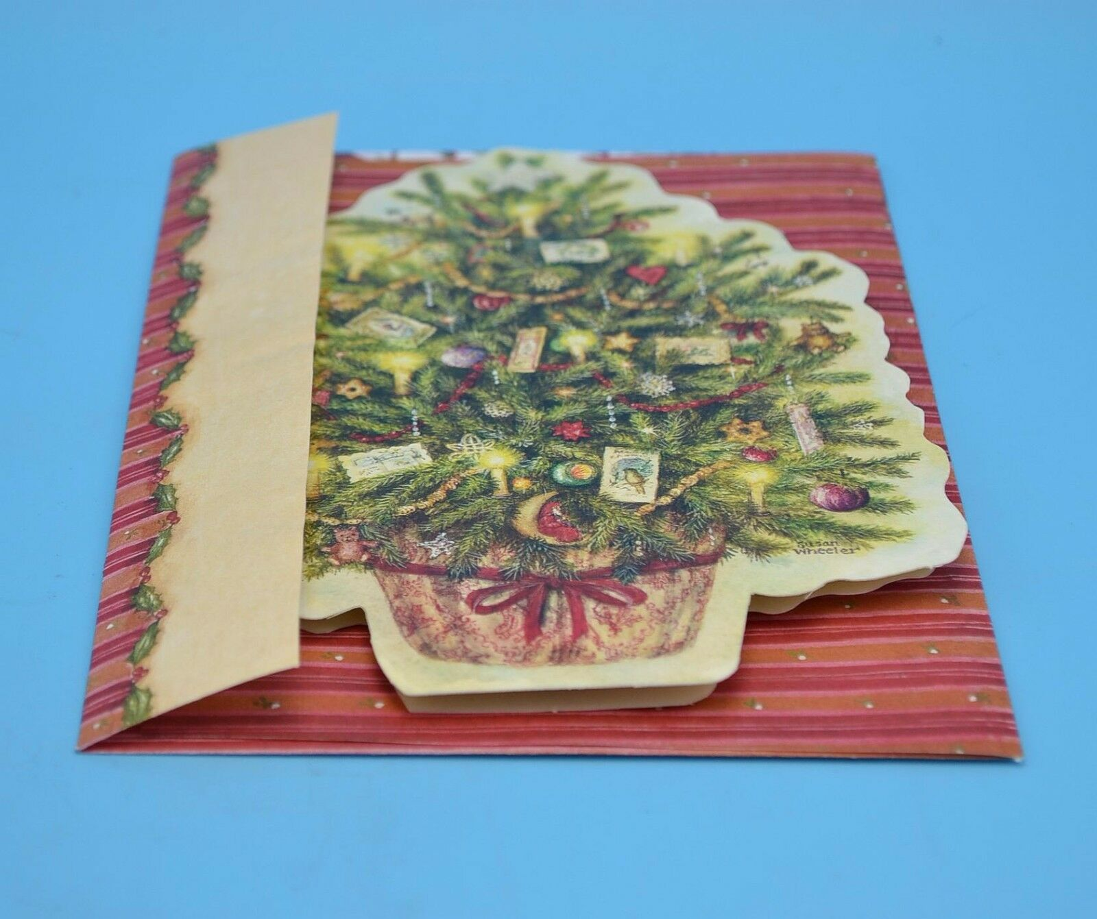 Vintage Holly Pond Susan Wheeler Christmas Tree Card With Special