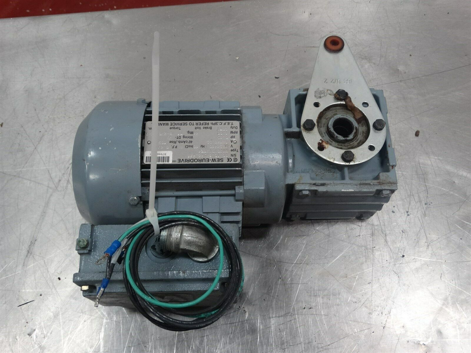 Sew Eurodrive Motor Wa20tdt71k4 025hp 230 460v 11 055a 1700rpm Wiring 3ph 60hz 1 Of 8only Available