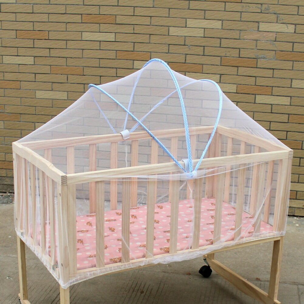 Universal mosquito safety net baby kids protector crib for Baby crib net