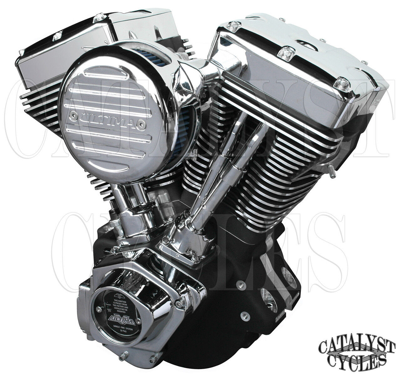 Black 120 Ultima Engine El Bruto Evolution Motor For Harley Evo Motorcycle Drawing Vquad And Method 1984 99 1 Of 1only 2 Available See More