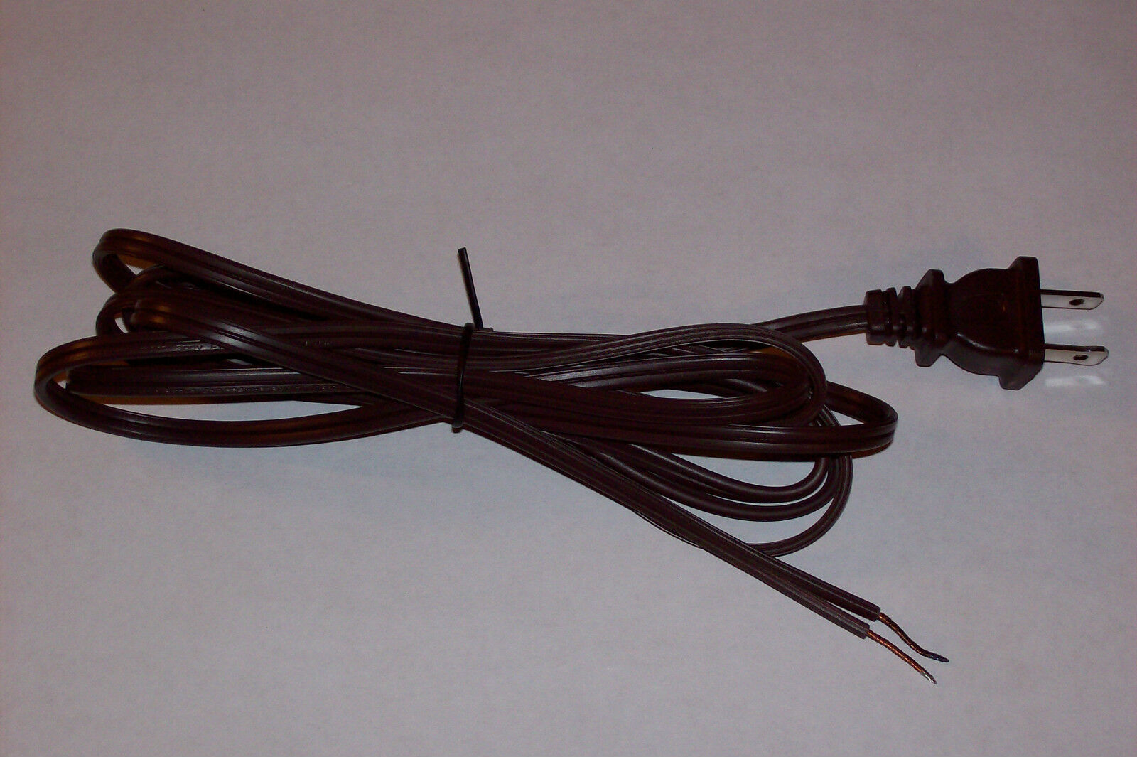 10\' BROWN LAMP Cord Set With Polarized Plug 18/2 Spt-1 Lamp Part New ...