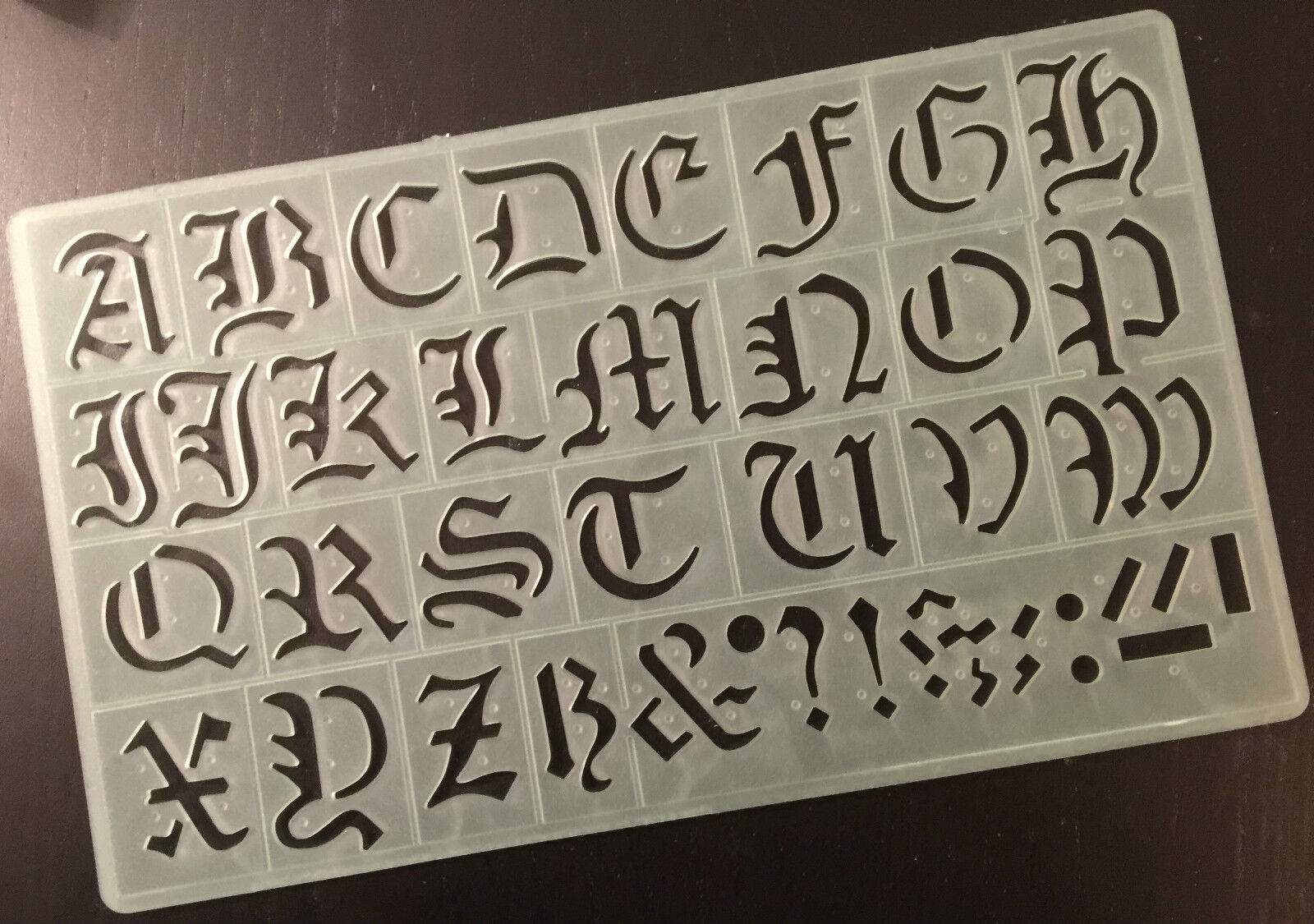 30 Mm Old English Style Alphabet Symbols Stencil Capital Letters